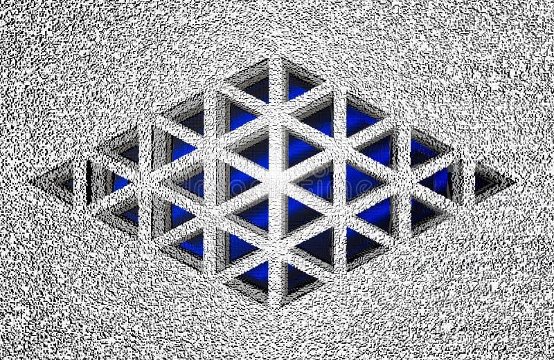 Fundo geométrico tridimensional do sumário, rendição 3D ilustração stock