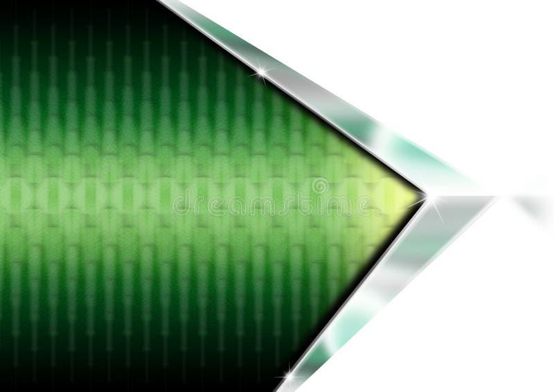 Fundo geométrico verde ilustração do vetor