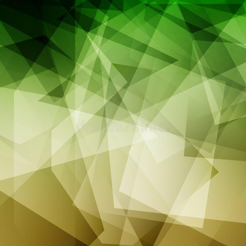Fundo geométrico verde abstrato do polígono ilustração royalty free