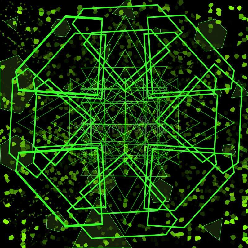 Fundo geométrico verde-claro futurista ilustração do vetor