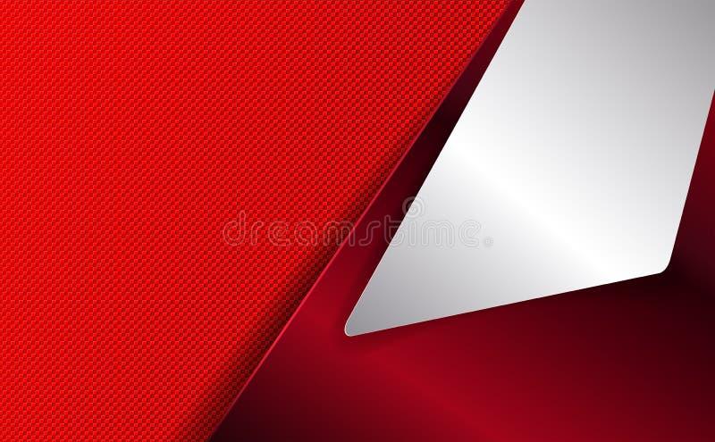 Fundo geométrico vermelho com quadro branco ilustração do vetor