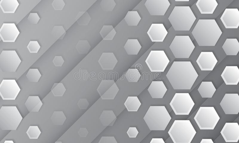 Fundo geom?trico abstrato com hex?gonos ilustração royalty free