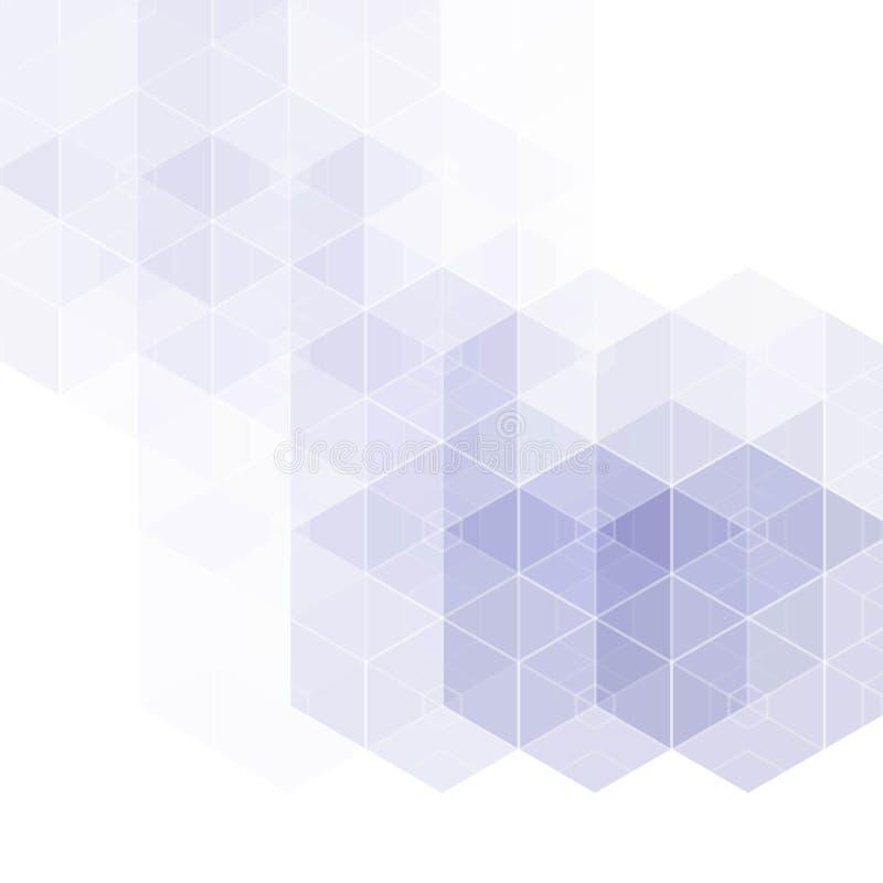 Fundo geom?trico abstrato do vetor Projeto do folheto do molde Forma azul do hex?gono Eps 10 ilustração do vetor