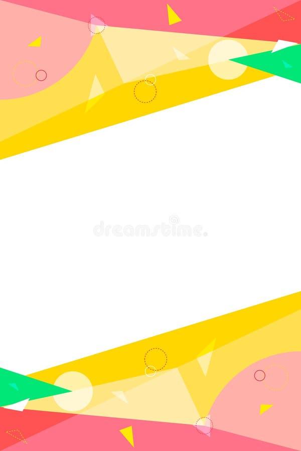 Fundo geom?trico colorido Composição simples do armazém Espa?o livre para seu texto Para sites, propagandas, bandeiras ilustração stock