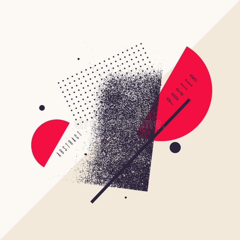 Fundo geom?trico da arte abstrato moderna com estilo liso, minimalistic Poster do vetor ilustração stock