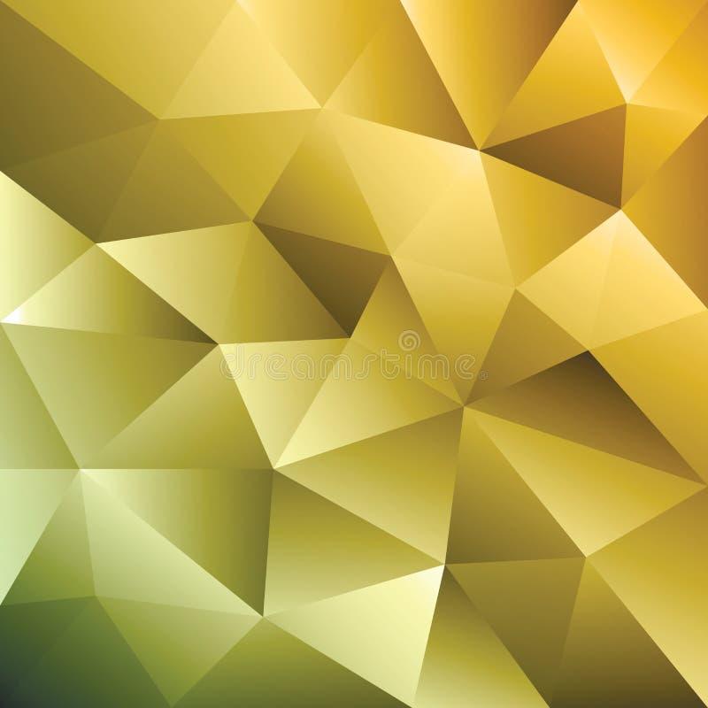 Fundo geom?trico do tri?ngulo amarelo abstrato Teste padrão triangular do ouro ilustração do vetor