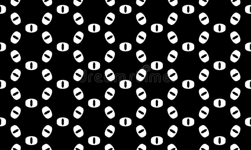 Fundo geom?trico preto e branco sem emenda do teste padr?o do vetor Projeto ilustração do vetor