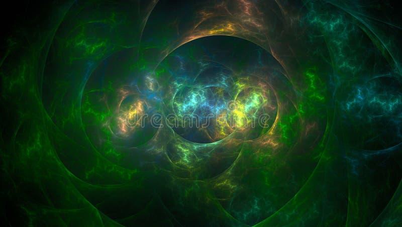 fundo gerado 3D da luz do sumário do fractal ilustração royalty free