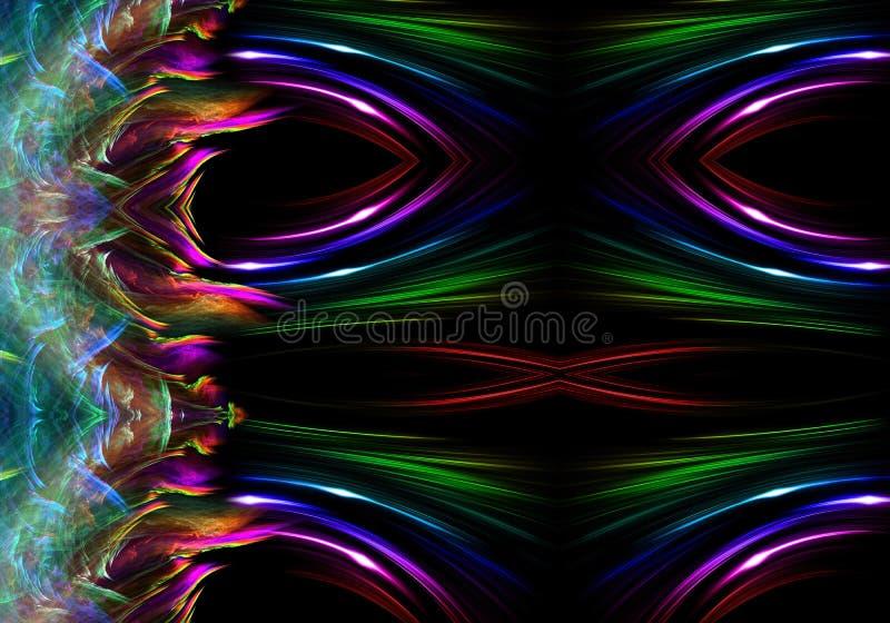 Fundo gerado por computador artístico das ondas elétricas do sumário 3d ilustração royalty free