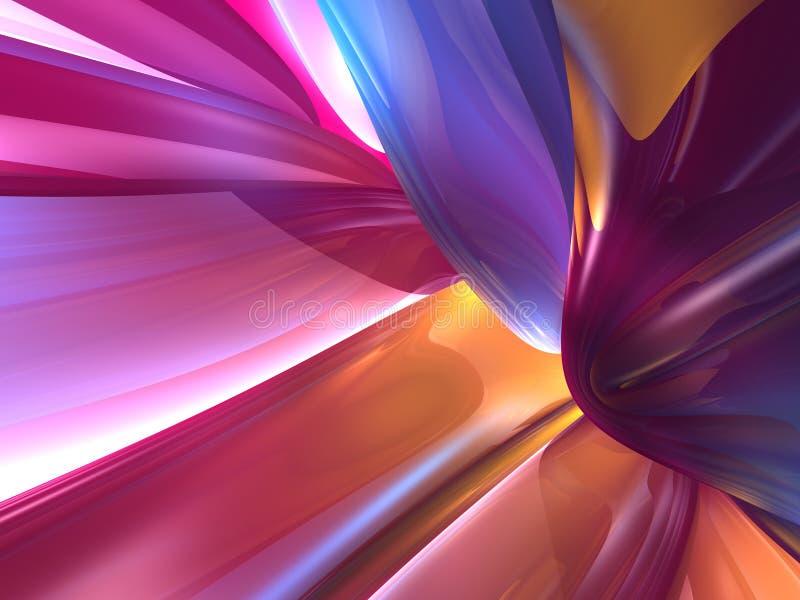 fundo Glassy colorido abstrato do papel de parede 3D ilustração do vetor