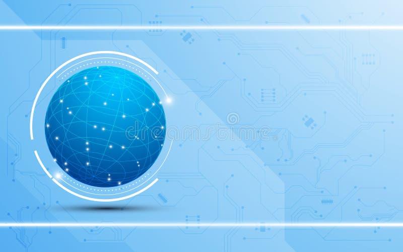 Fundo global abstrato do conceito da tecnologia digital ilustração royalty free