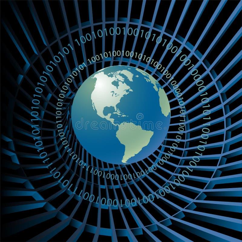 Fundo global da tecnologia ilustração stock
