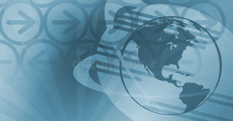 Fundo global da tecnologia - azul ilustração stock