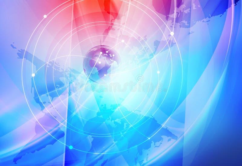 Fundo global das conexões a Internet ilustração do vetor