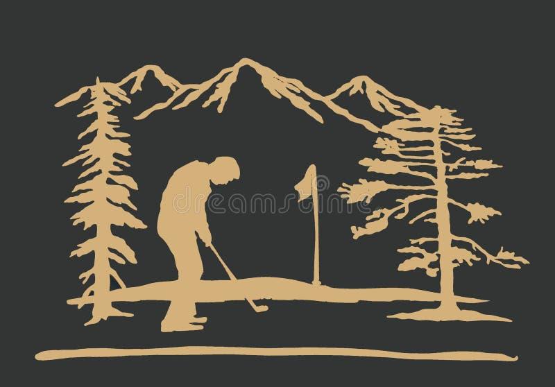 Fundo Golfing ilustração do vetor