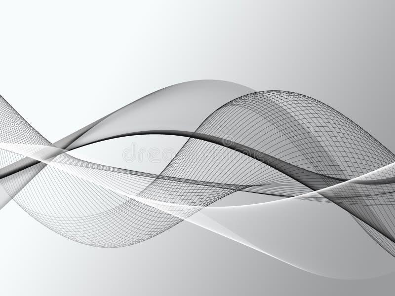 Fundo gráfico abstrato da onda ilustração stock