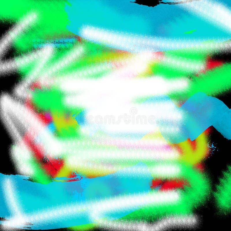 Fundo gráfico colorido moderno do estilo do grunge do sumário da arte para a Web e a pintura da tração da tinta da cópia fotos de stock royalty free