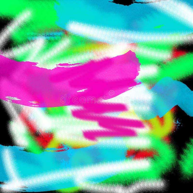 Fundo gráfico colorido moderno do estilo do grunge do sumário da arte para a Web e a pintura da tração da tinta da cópia fotografia de stock royalty free
