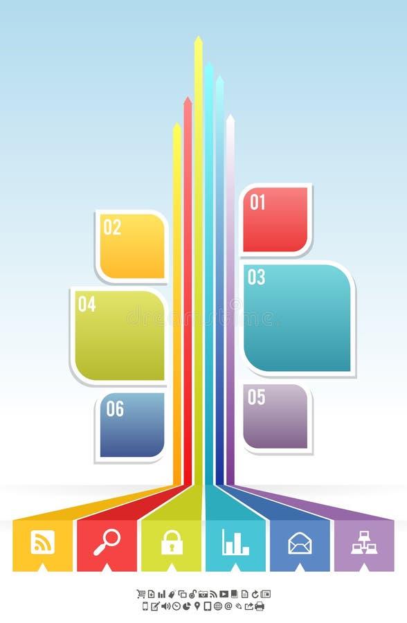 Fundo gráfico da bandeira da árvore da folha ilustração do vetor