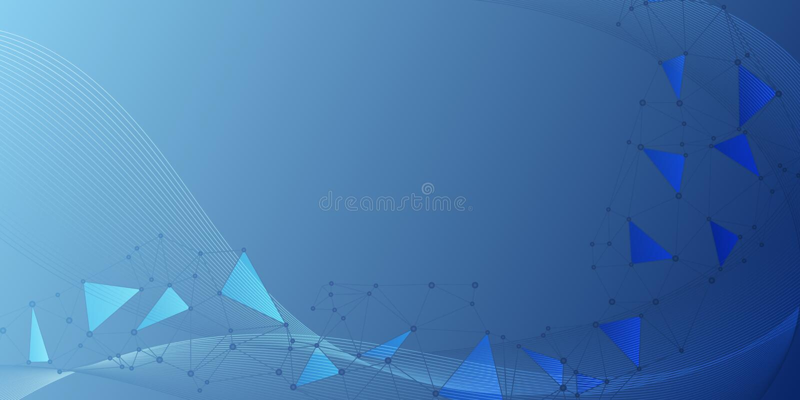 Fundo grande do visualização dos dados dos nós de rede ilustração do vetor
