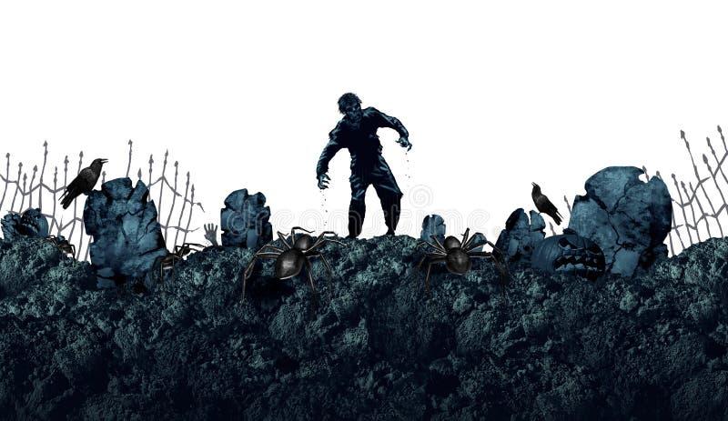 Fundo grave do zombi de Dia das Bruxas ilustração stock