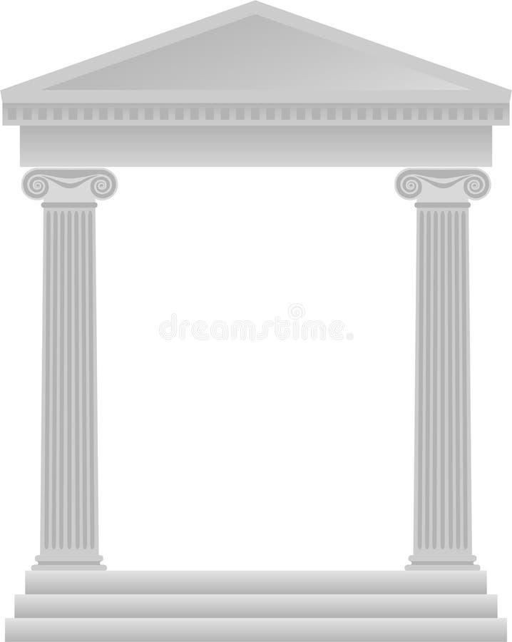 Fundo grego das colunas/eps ilustração do vetor