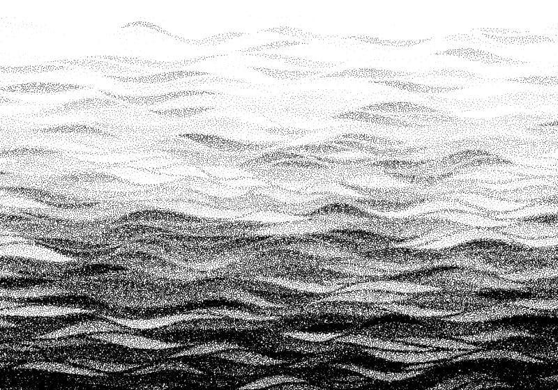Fundo halftoned pontilhado sumário das ondas ilustração royalty free