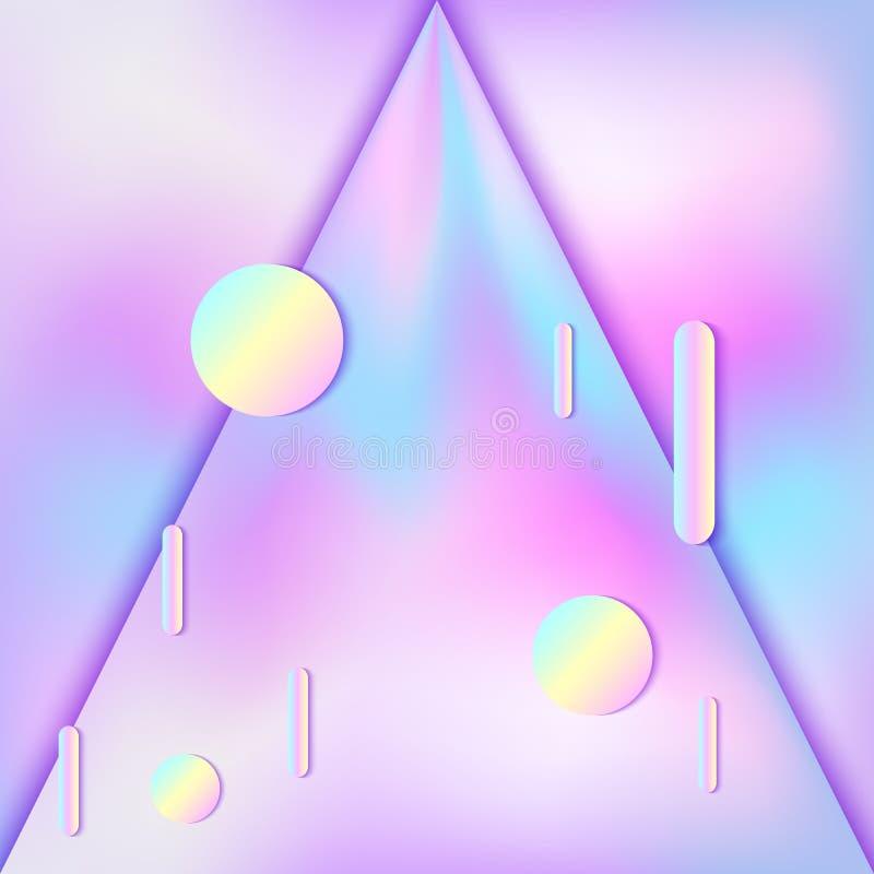 Fundo holográfico abstrato ilustração royalty free