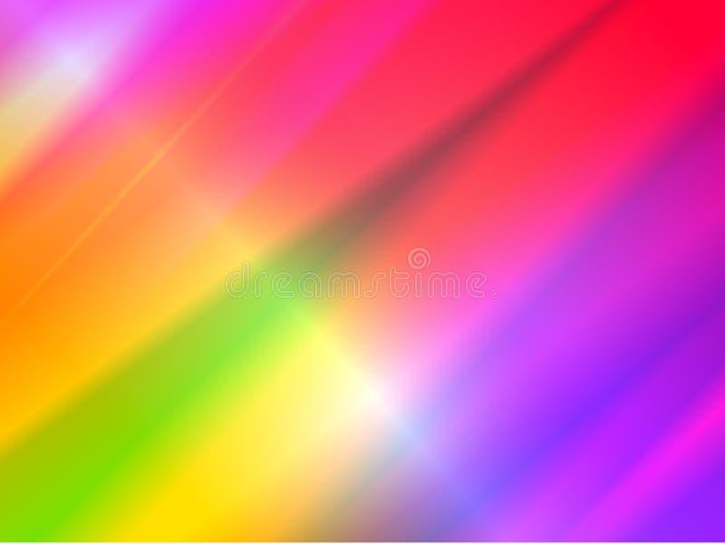 Fundo holográfico abstrato com feixes do arco-íris de luz do efeito da dispersão de prisma ilustração do vetor