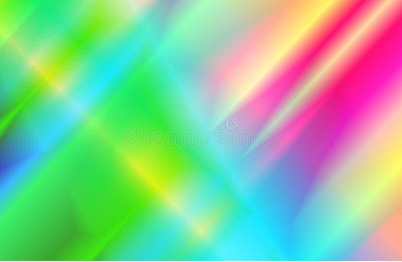 Fundo holográfico abstrato com feixes do arco-íris de luz do efeito da dispersão de prisma ilustração royalty free