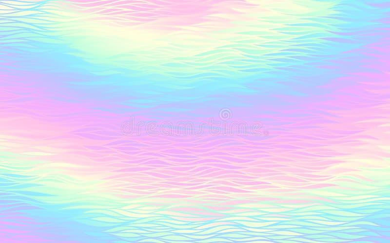 Fundo holográfico abstrato com teste padrão de ondas ilustração royalty free