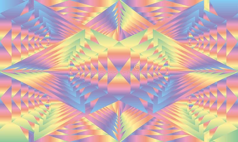 Fundo holográfico do arco-íris das gemas, vetor imagens de stock