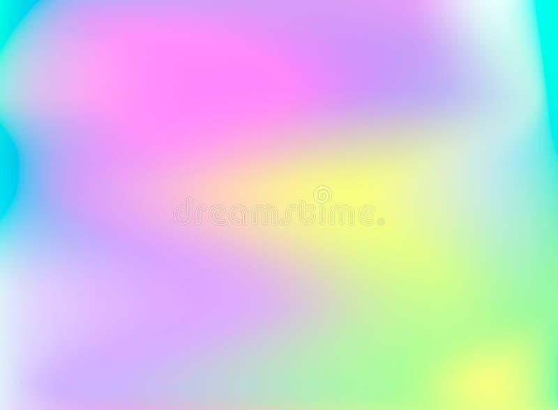 Fundo holográfico do vetor, contexto colorido arco-íris de brilho ilustração do vetor