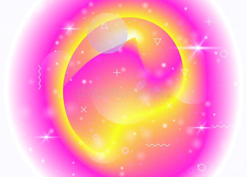 Fundo hologr?fico com inclina??es vibrantes do arco-?ris F din?mico ilustração royalty free