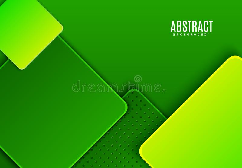 Fundo horizontal abstrato com escuro e o claro - rombo verde do inclinação Teste padrão geométrico do corte de papel minimalista  ilustração stock