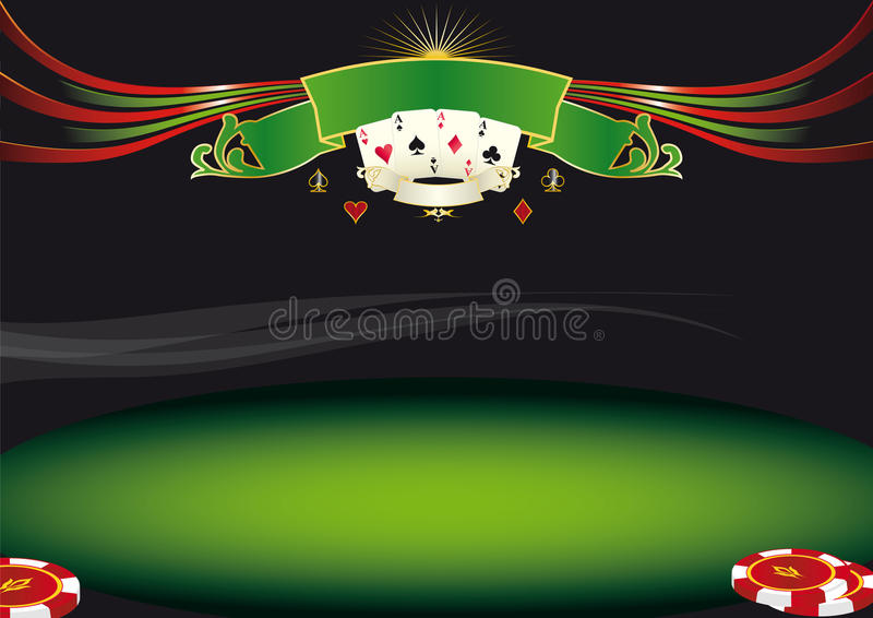 Fundo horizontal do pôquer ilustração stock