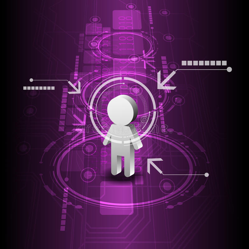 Fundo humano da tecnologia digital ilustração stock