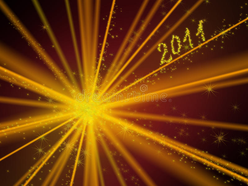 Fundo iluminado 2011 fotos de stock royalty free
