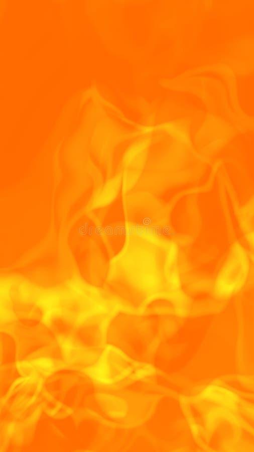 Fundo impetuoso quente das flamas ilustração stock