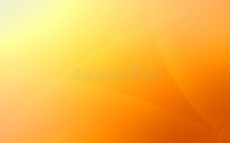 Fundo incomum amarelo e alaranjado com raios de luz suteis fotografia de stock