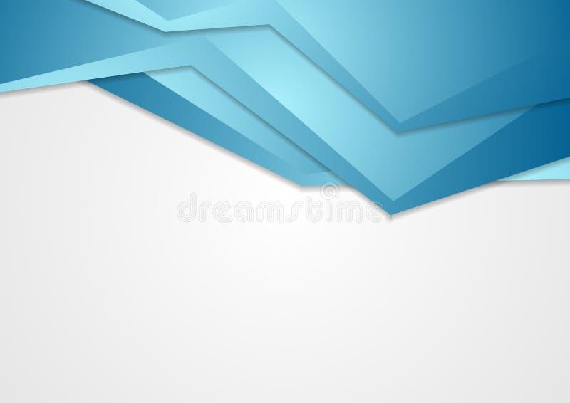 Fundo incorporado azul abstrato da tecnologia ilustração do vetor