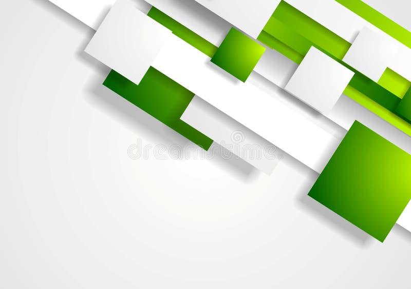 Fundo incorporado da tecnologia geométrica com quadrados ilustração royalty free