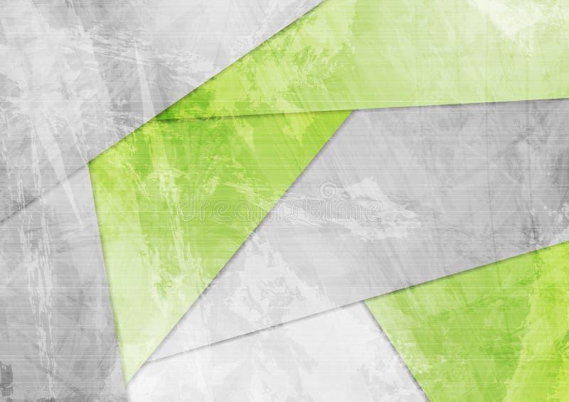 Fundo incorporado material verde do Grunge ilustração stock