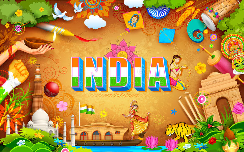 Fundo incrível da Índia ilustração royalty free