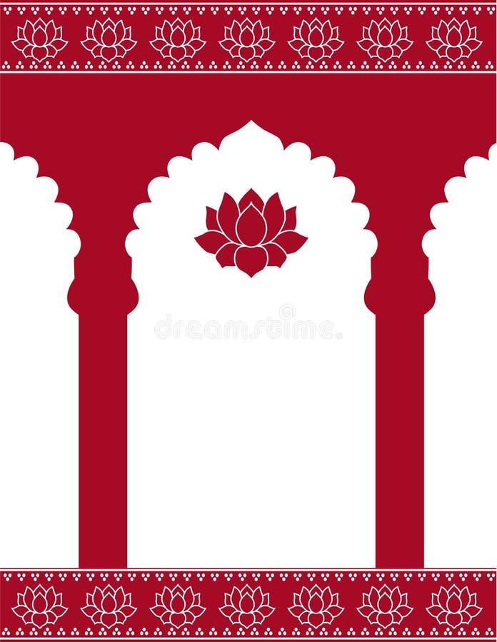 Fundo indiano vermelho da porta ilustração royalty free