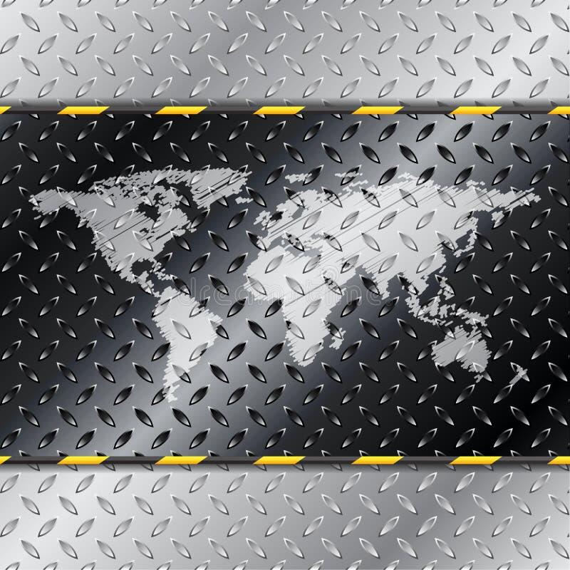 Fundo industrial abstrato com mapa ilustração stock