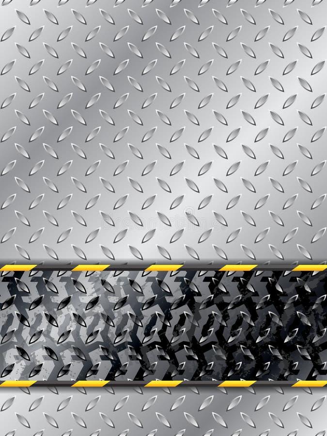 Fundo industrial abstrato com trilha do pneu ilustração do vetor