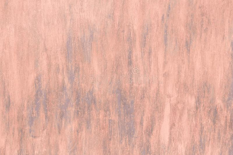 Fundo industrial abstrato da cor coral alaranjada do rosa com a textura da superfície de metal gasto pintada do grunge da parede  fotografia de stock royalty free