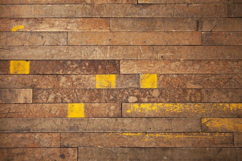 Fundo industrial de madeira das tábuas corridas foto de stock royalty free