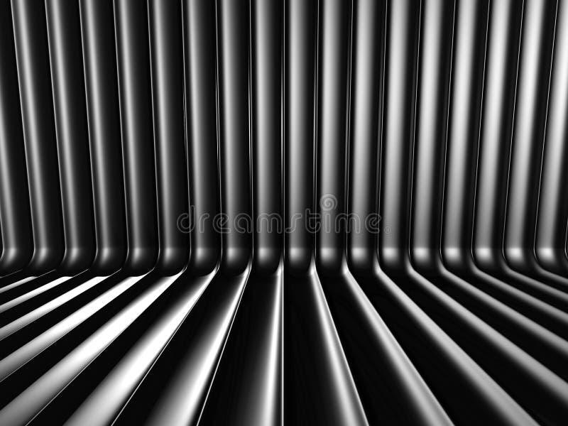 Fundo industrial metálico de alumínio escuro ilustração royalty free
